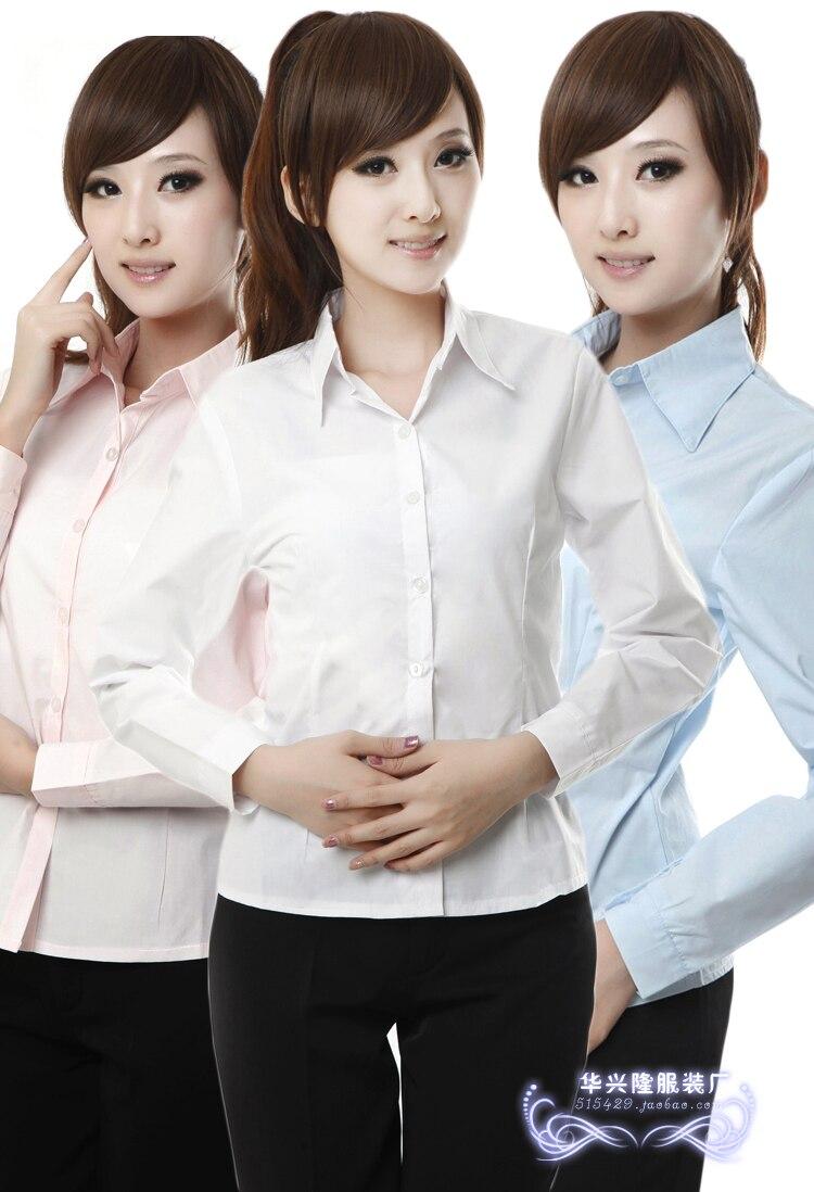 08aa17c4cb 2014 venta oferta especial algodón completo rojo púrpura lavanda verde  blusas blusa camisa femenina del desgaste del trabajo de las mujeres de  manga delgada ...