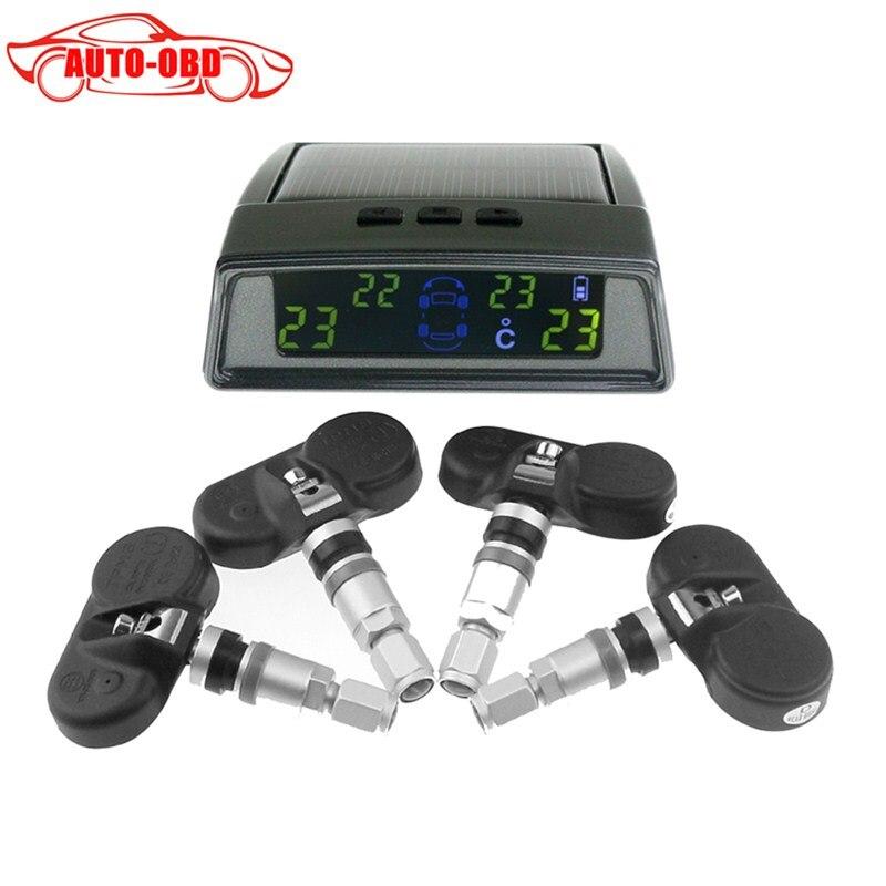 Wireless tire pneumatic pressure monitoring font b tpms b font system monitor 4 internal sensors For