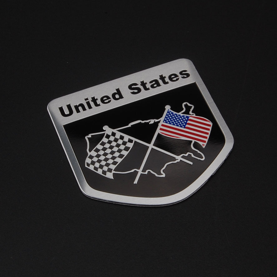 BBQ@FUKA 1pcs Car-sticker Aluminum Checkered United States USA US Flag Trunk Badge Emblem for audi a1 a3 a4 a5 a6 a7 a8 q7 free ship turbo k03 29 53039700029 53039880029 058145703j n058145703c for audi a4 a6 vw passat 1 8t amg awm atw aug bfb aeb 1 8l