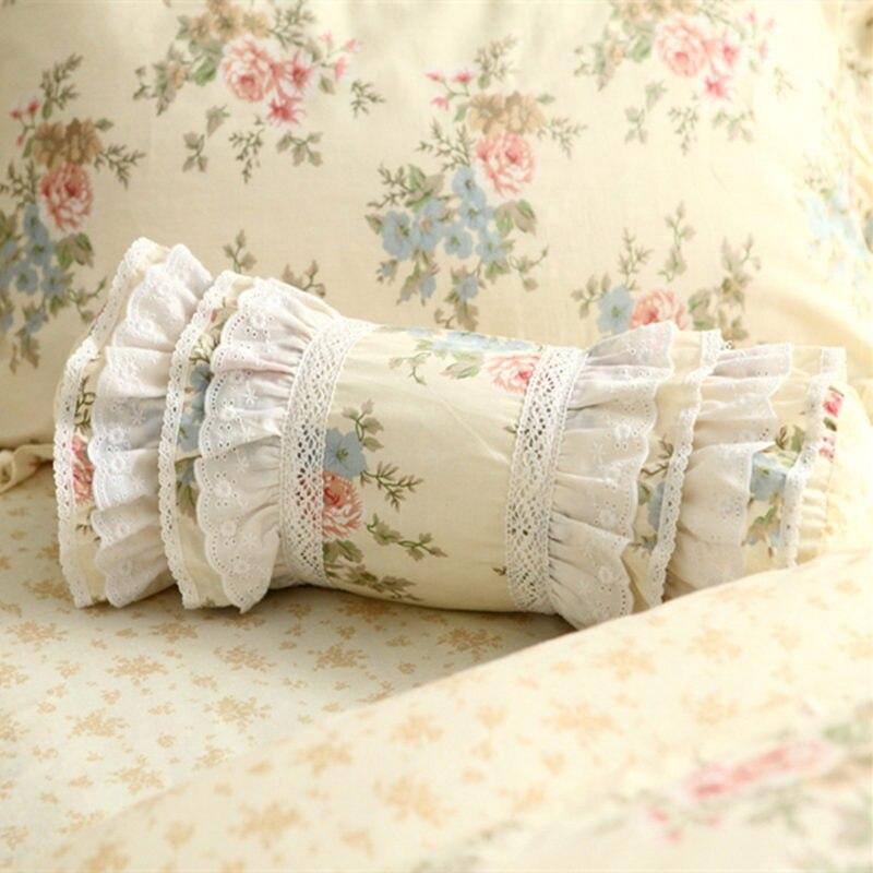 Cuscini A Caramella.Ricamato Di Fiori Decorazione Cuscino Biancheria Da Letto Cuscino