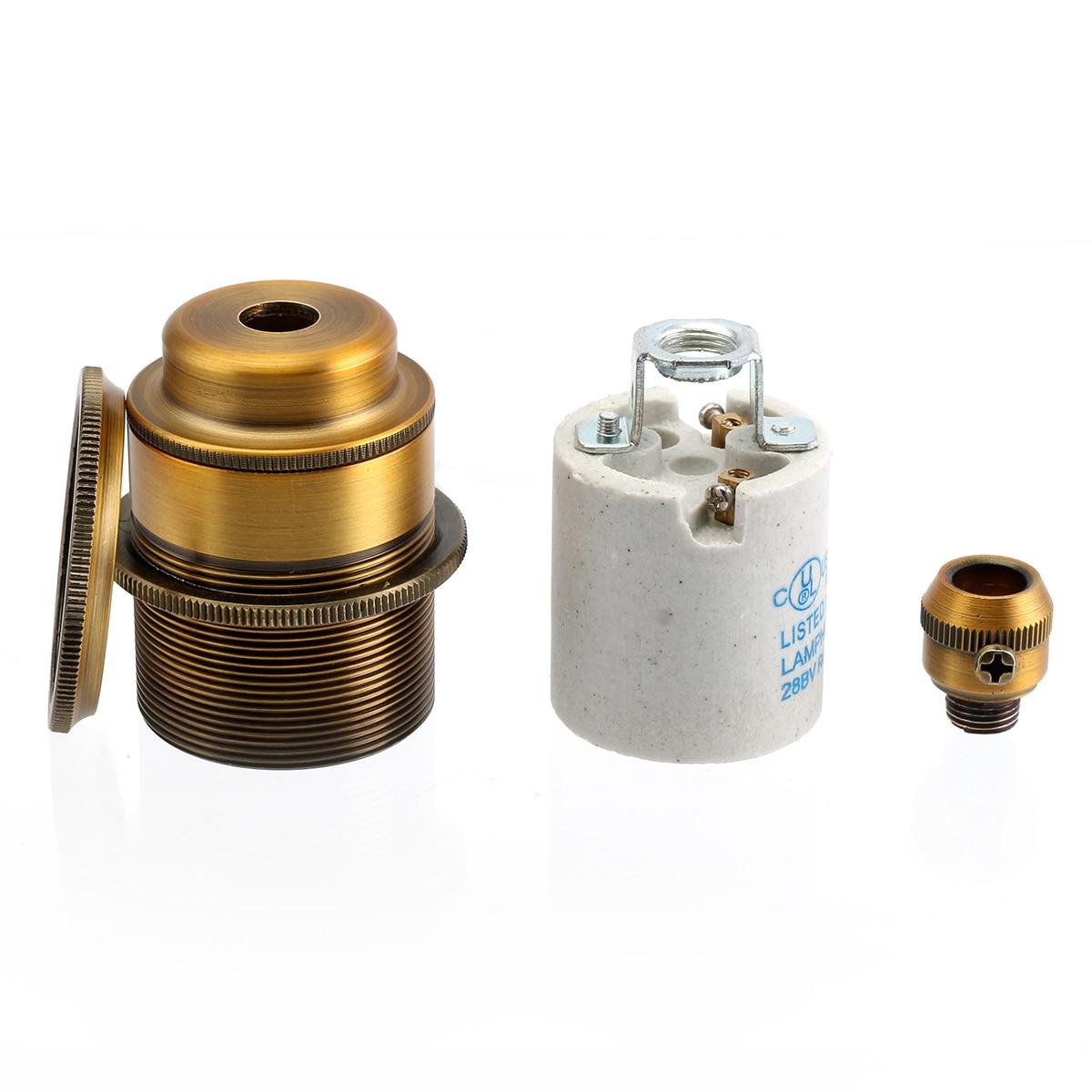 Bases da Lâmpada soquete de iluminação pingente luz Color : Pearl Black / Antique Brass / Silver