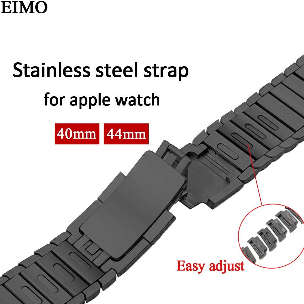 EIMO bracelet En Acier Inoxydable pour Bande de Montre Apple 44mm 40mm 42mm 38mm D'origine lien bracelet Poignet bracelet iwatch Série 4 3 2 1