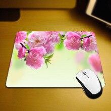 Mairuige красивые цветущей сакуры HD узор Коврик для мыши весенние цветы пейзаж мини Размеры Коврики на стол 250x290 мм для ПК игры плеер