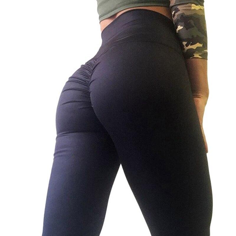Hayoha Fashion Bottom Wrinkles Push Up Leggings Women Fitness Slim Jeggings High Elastic Wicking Dry Quick Sporting Pants
