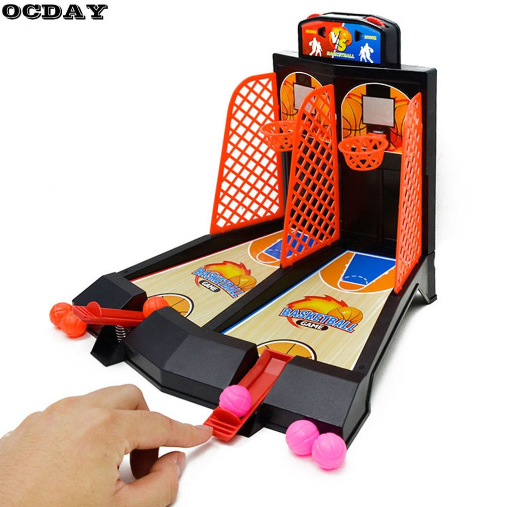2 Players Tablet Basketball Toy Hoop Shooting Stand  Indoor Outdoor Parent-Child Family Fun Classic Desktop Game Toy Sports Hot