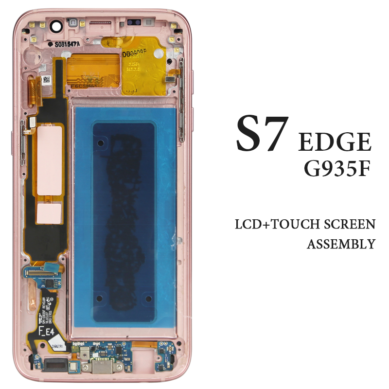 1PCS LCD for S7 edge G935 G935F G935A G935FD OEM quality AMOLED Display with frame No Dead Pixel Digitizer