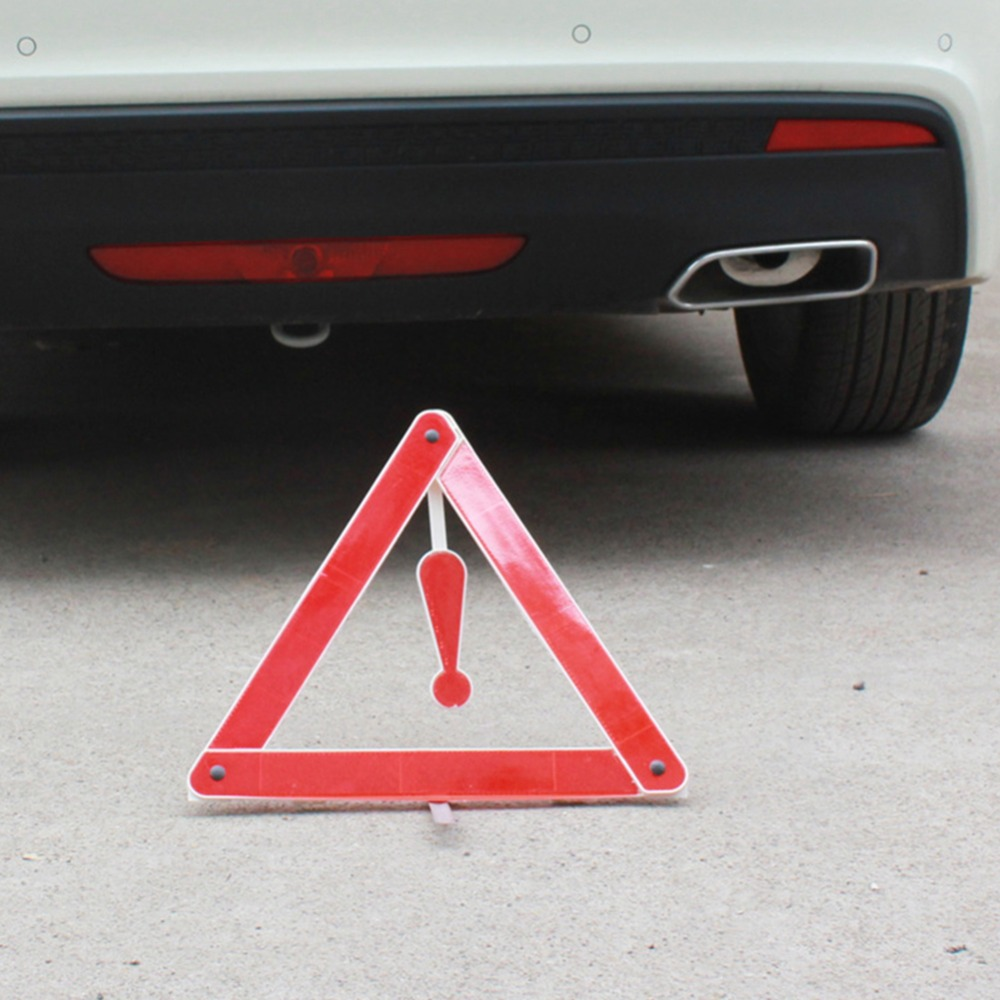 Car Rear Warning Board Stop Vehicle Danger Reflective Emergency Warning Tripod Roadway Safety Parking Safety Triangle Sign