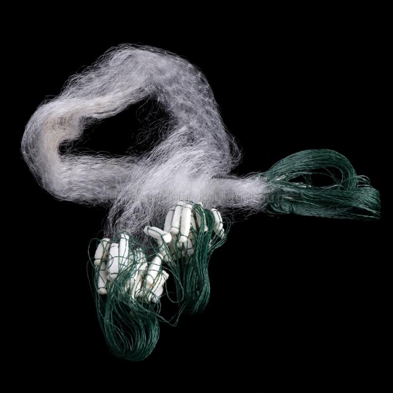 Strengthen Automatic Fishing Chemical Fiber Catch Fish Trap For Fishes Shrimp Minnows Crab Cast Mesh 8M X 0.8M N21 Dropship