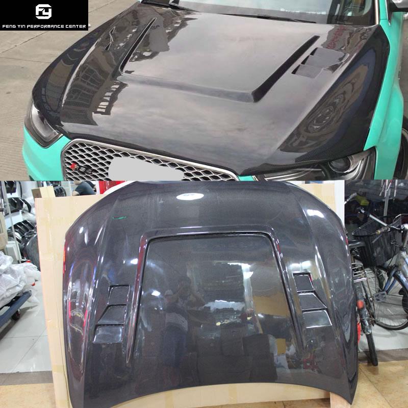 A4 B9 HS style Carbon fiber Car engine hood cover vents for Audi A4 B9 front bumper 13 16