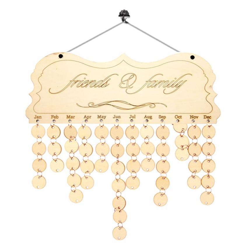 Дерево на день рождения напоминание доска березовой фанеры табличка знак Семья & Friends DIY Календари