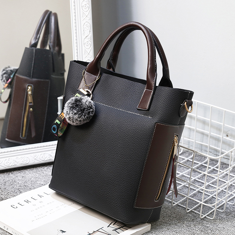 MONNET CAUTHY Female Totes Fashion Office Ladies Casual Handbags Solid Color Black Pink Brown Khaki Green Women Crossbody Bags
