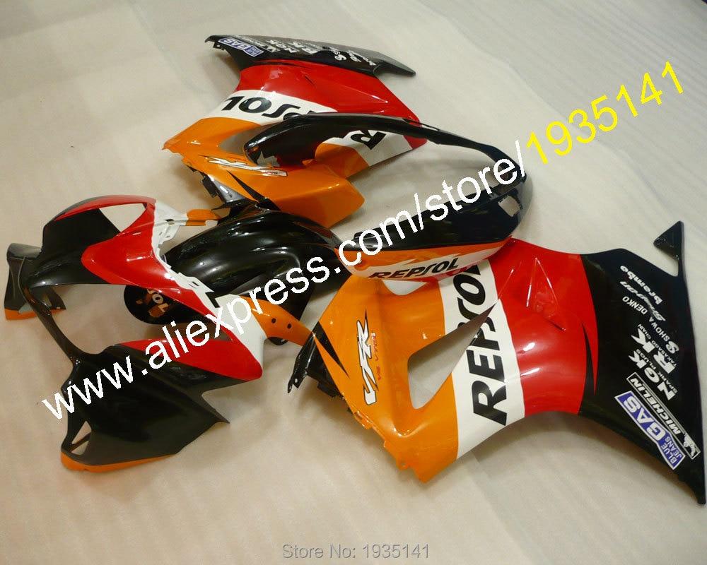 Горячие продаж многоцветный спортбайк кузов для Honda 2002-2012 VFR800 ПВП 800 02-12 запчастей набор Зализа комплект (литья под давлением)