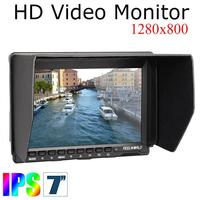 FW 759 7 1280x800 Portable Light Video Camera LCD Monitor With Parasol For Dslr Camera