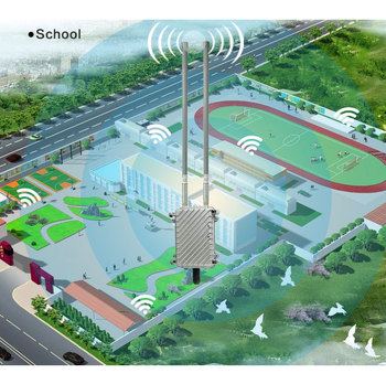 COMFAST AP inalámbrico estación base CF-WA700 área más grande cobertura wifi al aire libre ap 300 Mbps wi-fi router añadir 2 * 8dBi FRP antena wifi
