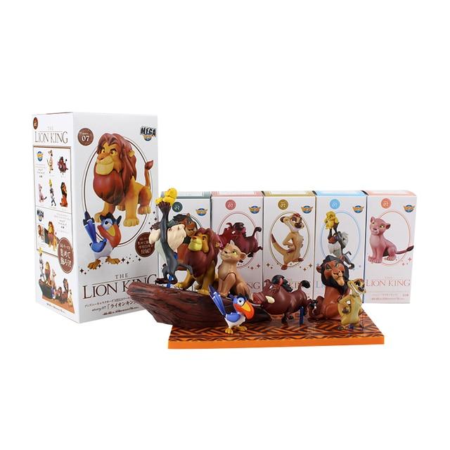 7 ピース/セットライオンキング図おもちゃシンバnala mufasa sarabiプンバァティモンzazu鳥カバ動物モデル人形