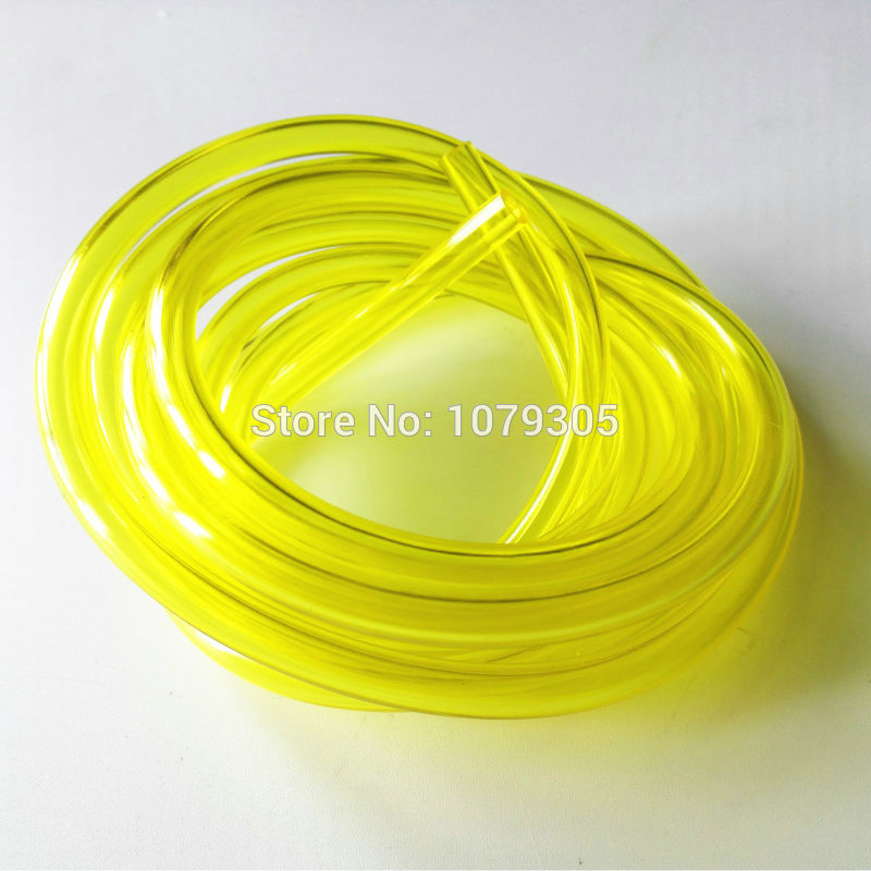 Inner Dia 3.00mm 5 Meters Chainsaw Fuel Tank Spare Parts Yellow Oil Pipe