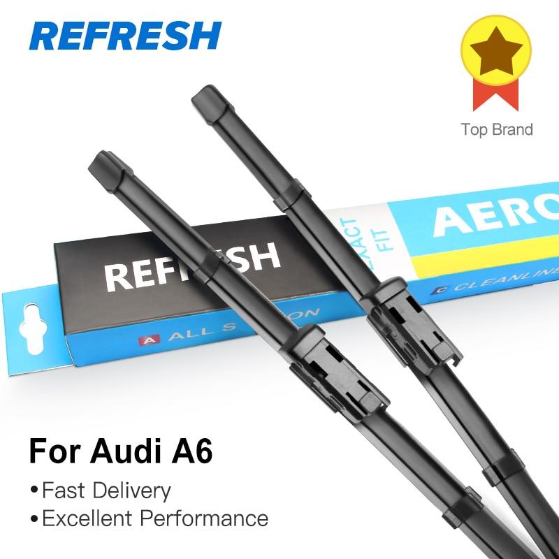 Обновляемые стеклоочистители для Audi A6 C5/C6/C7 подходящий крючок/слайдер/коготь/кнопочные ручки модель года от 1997 до