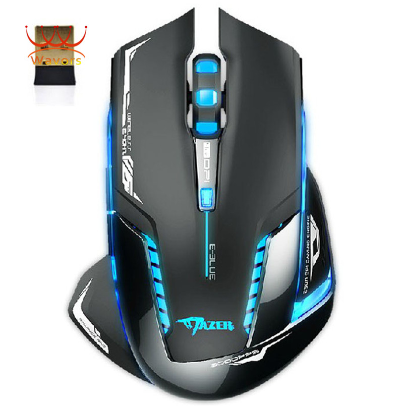 Puscard 2500 DPI High Speed Gaming Mouse 6D Mazer II Blue LED 2.4GHz Wireless Optical Gaming Game Mouse