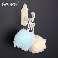 GAPPO 1 Set High Quality Restroom Tower Holder Wall Mount Zinc Alloy Single Hook Bathroom Accessories