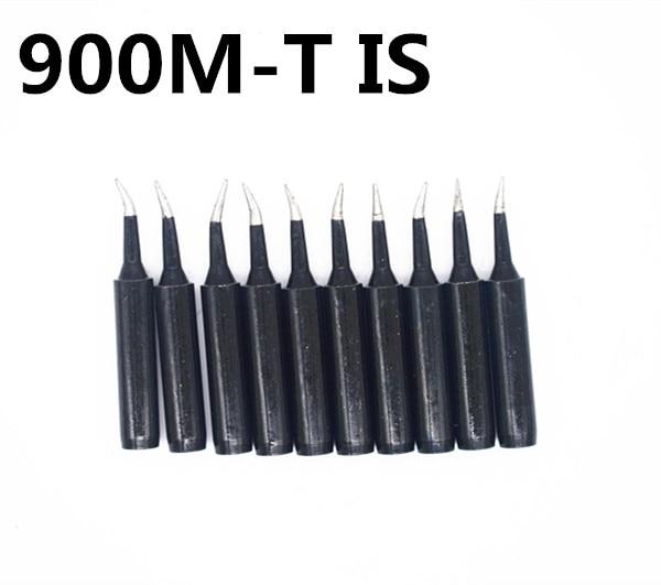 FEORLO 10pcs 900M-T-I lead-free black Soldering iron tip Universal  for Hakko Saike 936 937