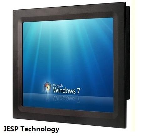 Lisible en plein soleil, 15 panel PC industriel, Core i3 CPU, 4 GB DDR3 RAM, 320 GB HDD, 2 * RS232/4 * USB/GLAN, 15 écran tactile panel pc