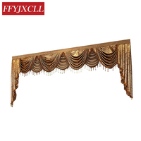 New Pelmet Europe Luxury Valance Curtains for Living Room Window Curtains for Bedroom Curtains 1 Piece Custom Made
