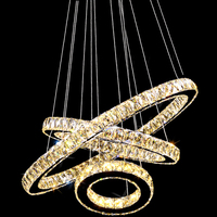 VALLKIN LED Crystal Pendant Light Hanging Supension Lamps Fixtures For Hotel Mall AC110 To 240V Stainless