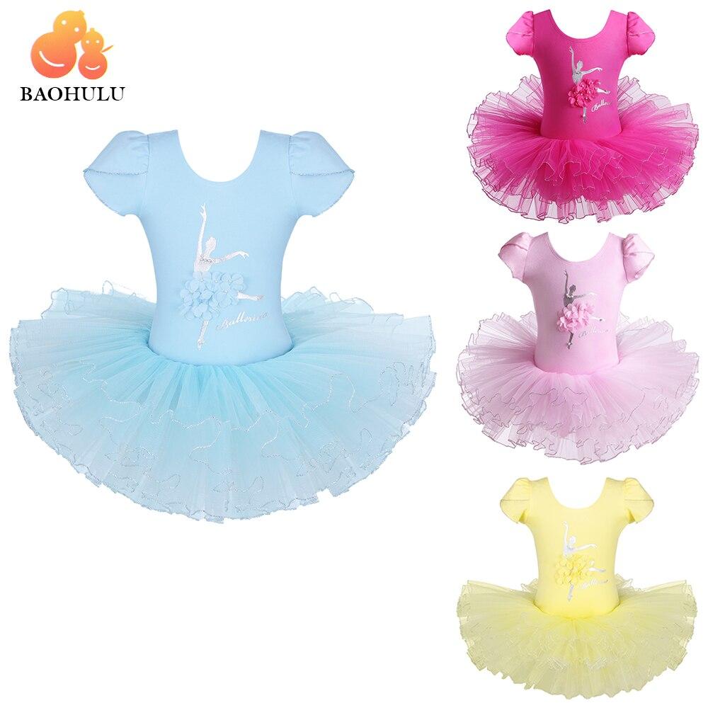 2018 BAOHULU Girls Ballet Dress Tutu Dancewear Leotard Girl Dance Dress tutu Costumes Kids Dancer Ballet Clothing For Ballerina