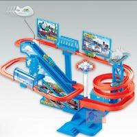 Children Music Light Thomas Rail Car Toys Plastic Thomas Track Car Toy Puzzle Track Car Electric