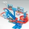 Niños Music & Light Thomas vagón juguetes de plástico Thomas y sus amigos de juguete pista de coches rompecabezas pista del tren eléctrico Brinquedos