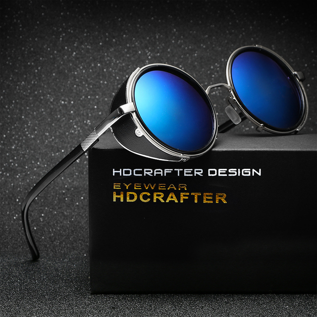 HDCRAFTER Brand Unisex Retro Alloy Sunglasses  Oval Glasses  Eyewear Accessories For Men/Women