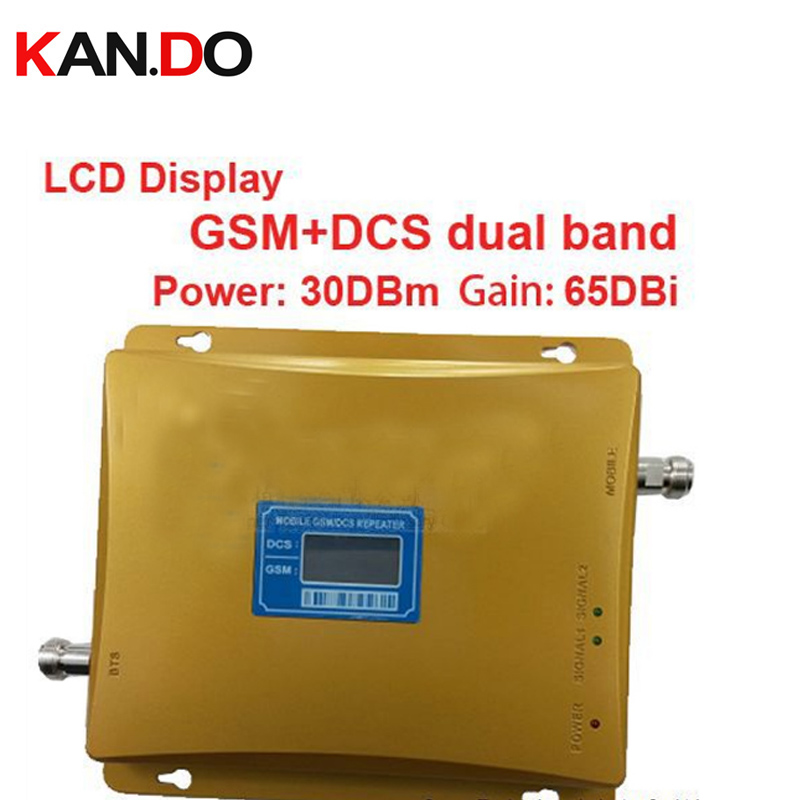 For Russia 980 Power 30 Dbm Gain 65dbi LCD Display Dual Bands GSM DCS Booster Repeater DCS Dual Bands 2G 4G Booster 4G Repeater