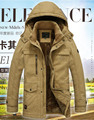 5XL Men's Overcoat Thick Fur Parka Men Winter Jacket Men Cashmere Warm Brand Parka Coat  Cotton-Padded Military Parka