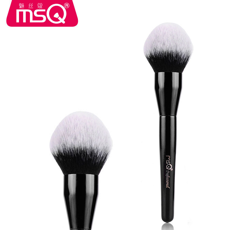MSQ New 1PCS Fashion Wooden Foundation Powder Cosmetic Blusher Makeup Brush Synthetic Hair Black Make Up Brush Pincel Maquiagem