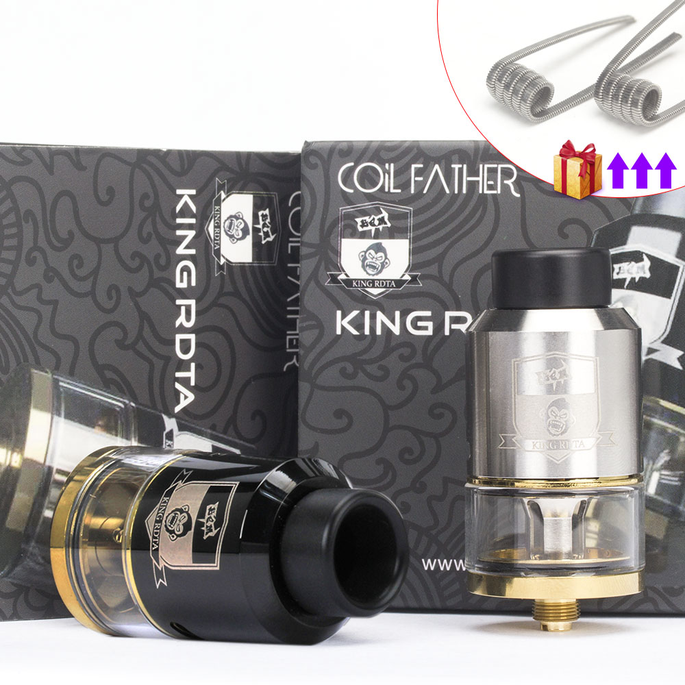 Coil Father King RDTA Style 810 RDA RTA 3.5ml Capacity 25mm Vaporizer Tank For Electronic Cigarette Box Mod Hookah Vape Atomizer(China)