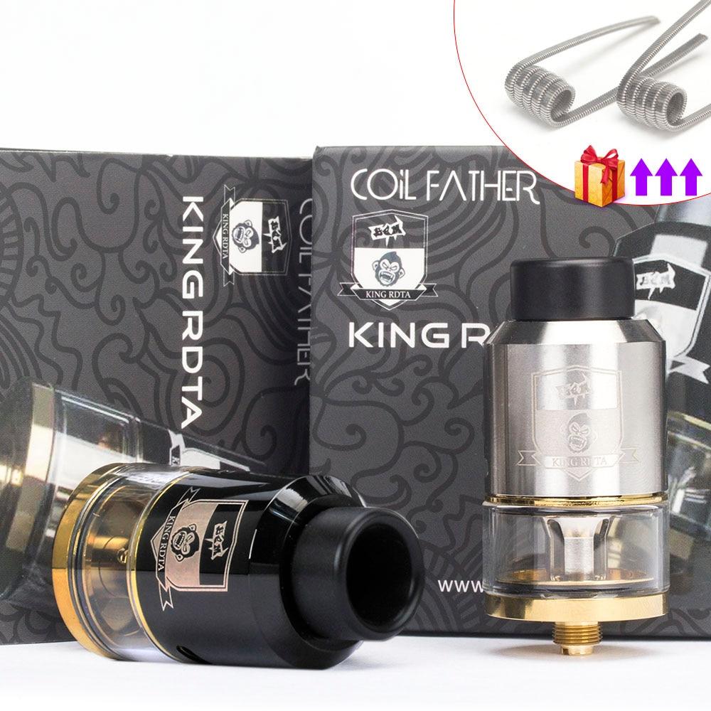 Coil Father King RDTA Style 810 RDA RTA 3.5ml Capacity 25mm Vaporizer Tank For Electronic Cigarette Box Mod Hookah Vape Atomizer