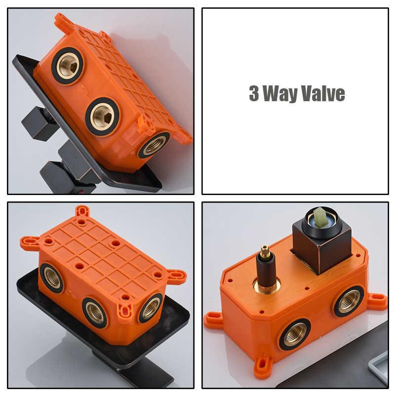 Box embutido Válvula Torneira Termostáticos Triplo Torneira Válvula Cartucho 2 Maneira Válvula Misturador Do Chuveiro para o Painel Do Chuveiro