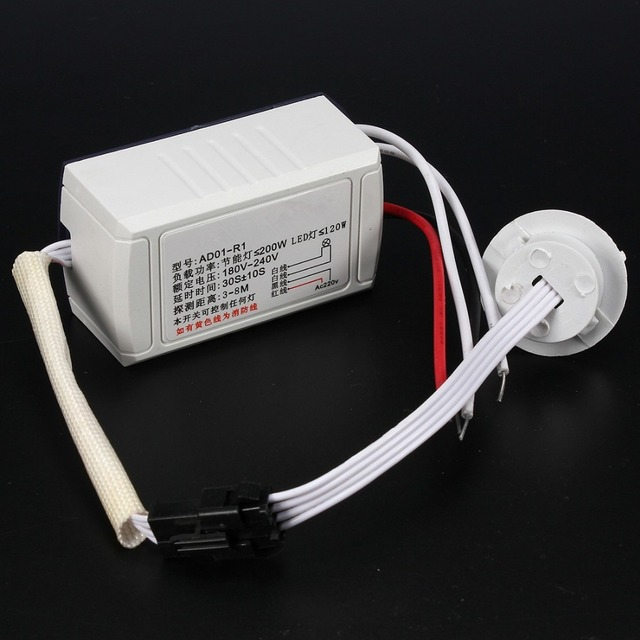 High Quality 220v IR Infrared Module Body Intelligent Sensor Light Motion Sensing Switch FREE SHIPPING