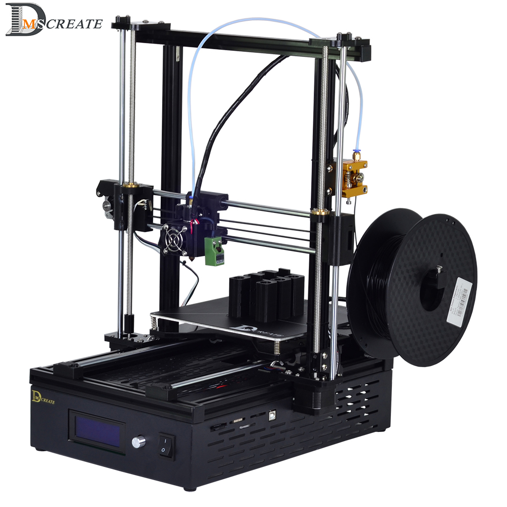 DMSCREATE DP5 3D Printer kit I3 full metal frame with big size FDM industrial grade high precision print moon light lamp