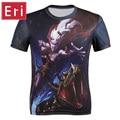 Nuevo 2017 T shirt 3D Hombres Impreso Animal Feroz Lobos de manga corta traje de lobo de la aptitud camiseta galaxy homme camisetas 4xl X491