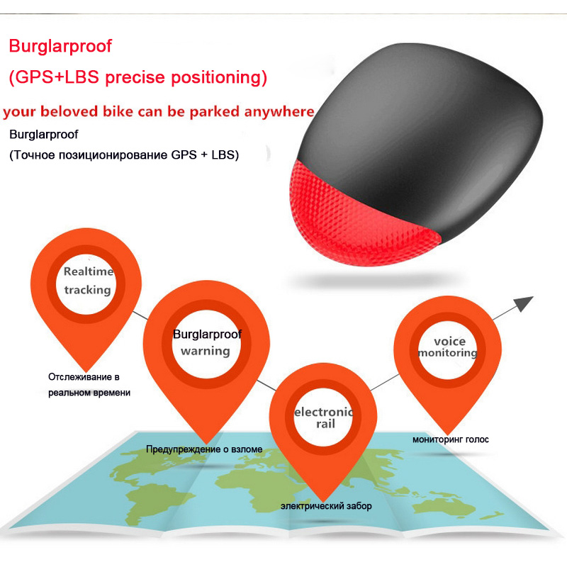 Mini Gps Tracker Hidden Gsm Sms Gps Positioning Bicycle