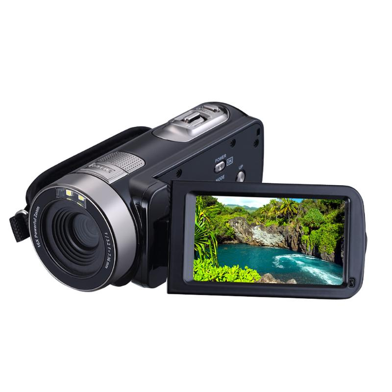 1080P Video Full HD 16X Zoom Digital Camera Infrared IR Night Vision 5MP Video Camera Camcorder 3 LCD Touch Screen Wireless DV kaure 2016 1080p full hd 16x digital zoom digital video camera camcorder with lcd night shot max 24mp support face detection