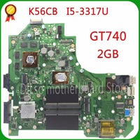 Kefu k56cm para asus k56cm k56cb a56c s550cm placa-mãe laptop i5-3317U pm k56cm gt740 2gb placa-mãe original novo teste