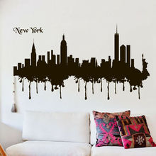 Popular new york words buy cheap new york words lots from china new wall decal bedroom mural words sign new york town city skyline bedroom 22x35inch altavistaventures