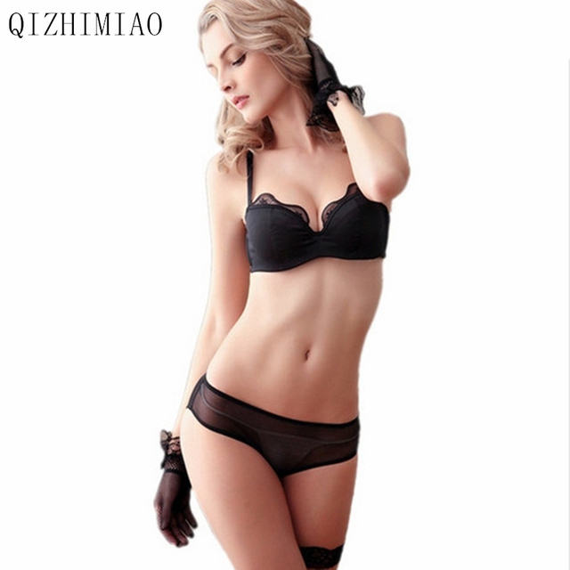 da553ab7b7f48 New Women Fashion bra Set Half Cup Push Up Sexy Lace bar And Underwear Push  Up Sexy Lingerie A B C D Cup bra free shipping