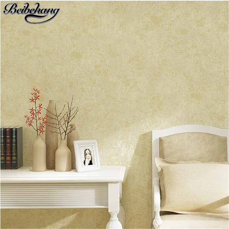 beibehang Simple modern wallpaper warm bedroom non-woven wallpaper pure color plain full floor living room sofa TV wall paper beibehang simple plain american mediterranean dark blue wallpaper pure color bedroom living room tv background wallpaper garment