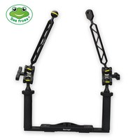 Diving Photography Sport Stabilizer Camera Housing Tray Set Arm System 1/4 Screw Dual Handle Aluminum Alloy Camera DSLR Tray