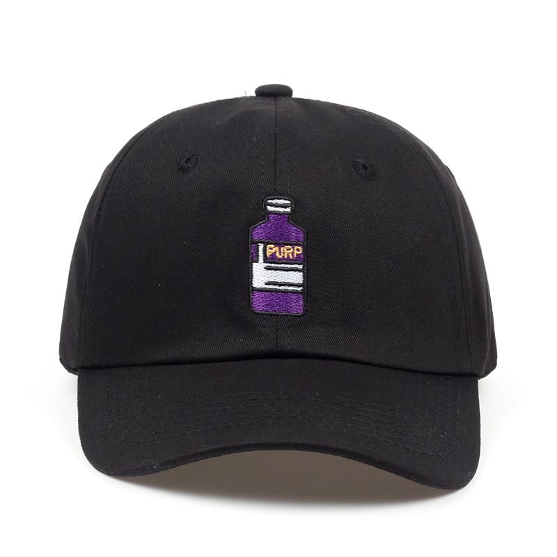 e82ddff6a6bfb 2018 new brand baseball cap Violet Adult Bottle Embroidered Dad Hat men  women Hip hop fashion