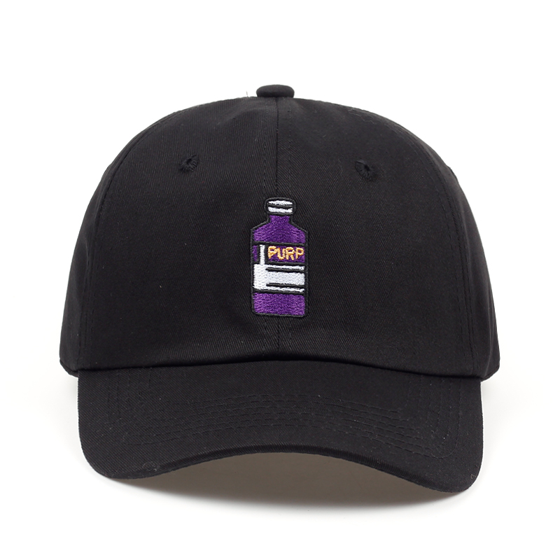 2018 new brand baseball cap Violet Adult Bottle Embroidered Dad Hat men women Hip hop fashion snapback cap hats wholesale 2016 new korean children s pirate ship level for men and women baby embroidered baseball cap along the fringes of hip hop hat