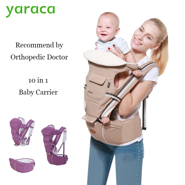 Baby Carrier 10 In 1 Multifunctional Sling For Newborns Waist Straps Hip Seat For Kids From 0 to 36 Month Kangaroo Load 20kg